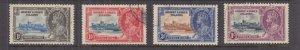 GILBERT & ELLICE ISLANDS, 1935 Silver Jubilee set of 4, used.