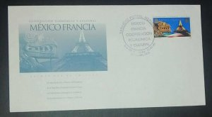 A) 1998, MEXICO, ECONOMIC AND CULTRAL COOPERATION WITH JOINT FRANCE, FDC, XF