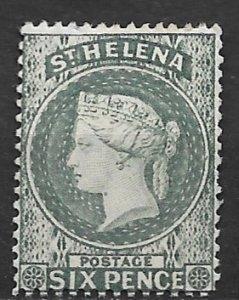 1889 St Helena #7 Queen Victoria 6p MHR