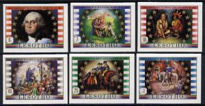 Lesotho 1982 George Washington set of 6 in unmounted mint...