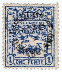 (I.B) Australia - Queensland Railways : Parcel Stamp 1d (Gracemere)