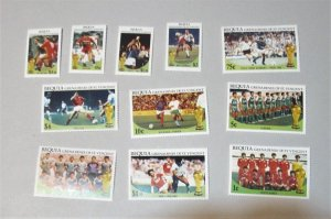 St. Vincent Bequia - 218-29. MNH Set. Soccer. SCV - $5.60 (See Note Below)