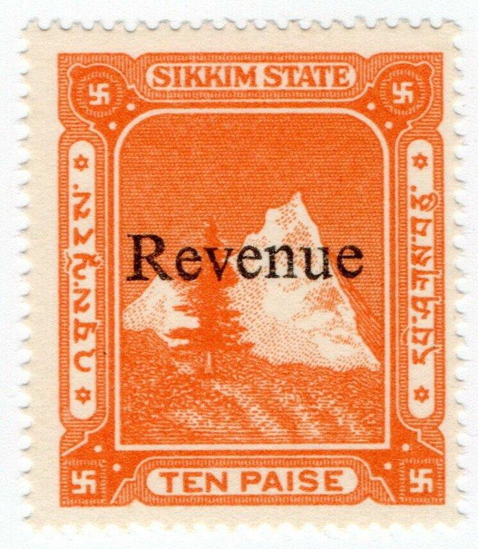 (I.B) India (Princely State) Revenue : Sikkim Duty 10p