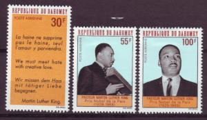 J15318 JLstamps 1968 dahomey set mh #c71-3 martin luther king