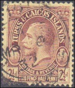 Turks & Caicos Islands #64, Incomplete Set, 1928, Used