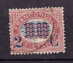 J27857 1878 italy used #44 ovpt