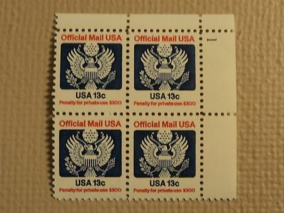 USPS Scott O129 13c Official Mail USA 1983 Mint NH Plate ...