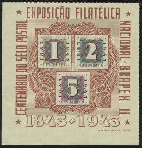 Brazil Centenary of Brazil's first postage stamps MS SG#MS685a MI#Block 7 SC#C53