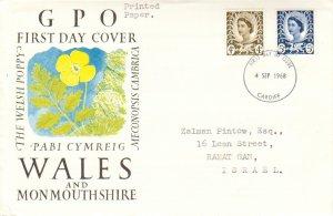 Great Britain Regionals Scott Wales 9, 11 Typewritten Address.