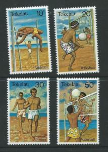 TOKELAU ISLANDS SG77/80 1981 SPORT MNH