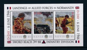 [81038] Nevis 2011 Second World war D-day Landing Normandy Sheet MNH