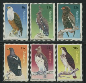 Zimbabwe 1984 Sc 481-486 Birds Eagle CV $5.60