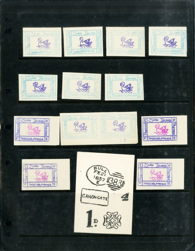 Swan Island Collection of Unique Mint Stamp Values