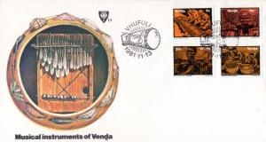 Venda - 1981 Musical Instruments FDC SG 51-54