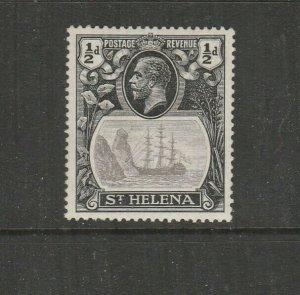 St Helena 1922/37 Ship, 1/2d Grey & Black, TORN FLAG MM SG 97b