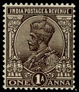 INDIA SG197, 1a chocolate, LH MINT.