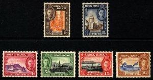 Hong Kong Scott 168-73,SG163-68  KGVI Stamp Centenary Mint Lightly H.