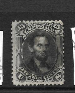 US 1861-66  15c  BLACK    FU   GRILL   Sc 98