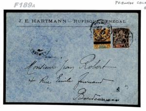 F189a French Colonies Senegal 1903 Cover {samwells}