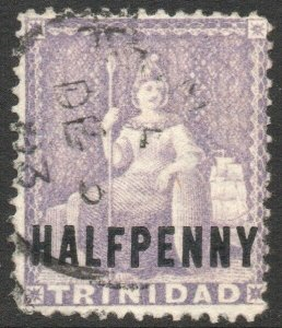 TRINIDAD-1879 ½d Mauve Sg 99 GOOD USED V46196