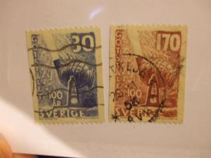 Sweden #529- 530 used