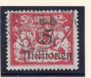 Germany Danzig 1923 (Aug) Issue Fine Used 5M. Surcharged 117348