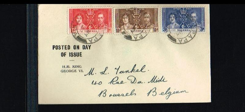 1937 - Nigeria FDC - Famous People - Royalty - Coronation King George VI and ...