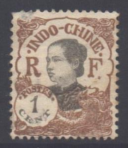 Indo-China SG119, 1922 Ammanite 1c MH* poor gum