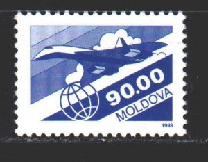 Moldova. 1993. 66 of the series. Airmail, airplane. MNH.