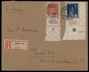 Germany 1922 Elderly and Childrens Aid Welfare Set Mi233-234 Inflation Cov 72087