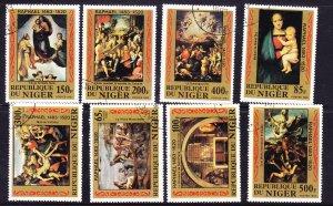 Niger 1983 Raphael Paintings set CTO