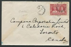 NEW BRUNSWICK SPLIT RING TOWN CANCEL COVER CORMIERVILLE