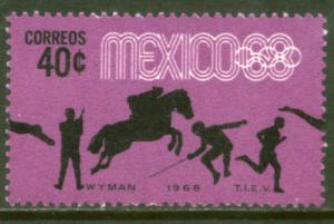 MEXICO 991, 40c Pentathlon 4th Pre-Olympic MINT, NH. VF.