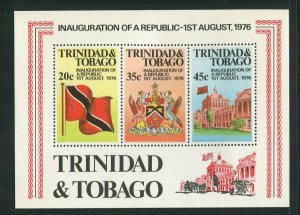Trinidad & Tobago MNH S/S 274a Inauguration Of The Republic 1976