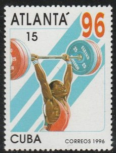 1996 Cuba Stamps Sc 3665 Atlanta'96 Weight Lifting MNH