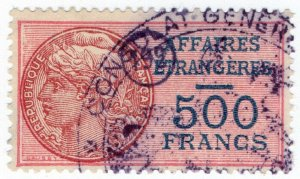 (I.B) France Revenue : Consular Service 500Fr (Affaires Etrangeres)