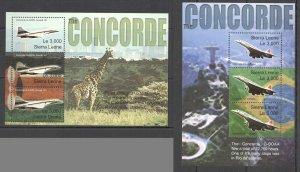C0743 SIERRA LEONE TRANSPORT AVIATION THE CONCORDE 2KB MNH
