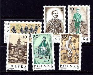 Poland 2776-81 MNH 1986 Bicycling