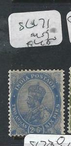 INDIA    (PP2003B)  KGV 2 1/2A  SG 171    MOG