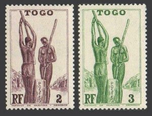 Togo 270-271 blocks/4.Michel 130-131. 1941.Togolese women.