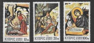 CYPRUS SG397/99 1972 CHRISTMAS MNH