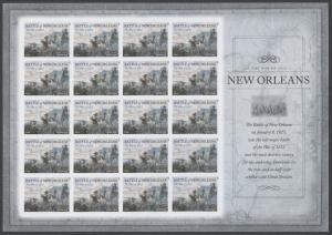 #4952a BATTLE OF NEW ORLEANS IMPERF PANE OF 20 BS5513