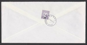 GB LUNDY 1991 cover - Puffin stamp 27 on 16.................................F905