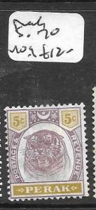 MALAYA  PERAK  (P1007B)  TIGER 5C  SG 70  MOG