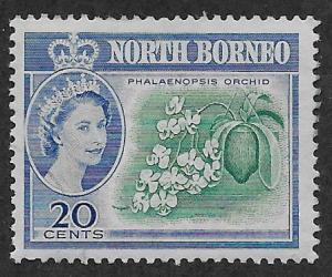 NORTH BORNEO SC# 286 FVF/MOG 1961