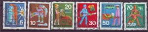 J16096 JLstamps 1970 germany set used #1022-7 occupations