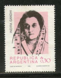 Argentina 1986 Indira Gandhi of India Sc 1562 MNH # 3060