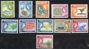 Pitcairn Islands Sc# 20-30 MNH 1957 Definitives