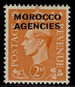 MOROCCO AGENCIES GVI SG80, 2d pale orange, M MINT.