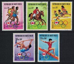 Upper Volta Summer Olympic Games Montreal 5v 1976 CTO SC#C233 MI#617-621